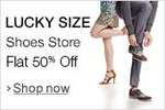 FLAT 50% OFF or More - LUKCY SIZE SHOE'S STORE