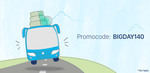 Paytm : Flat Rs. 140 Cashback on Bus ticket bookings