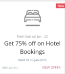BACK AGAIN || REDBUS || Get 75% off (upto a max. of Rs. 2600) on hotel bookings