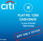 Goibibo : Exclusive offers on Goibibo app with Citi Cards