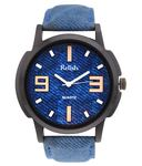 Relish Multicolour Leather Wrist Watch For Men Rs.252/-