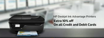 Get extra 10% off on all debit and credit cards Hp Deakjet ink advantages