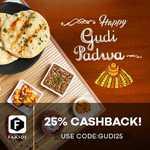 Faasos: 25% on All Orders, Minimum Order Value - Rs. 100/-