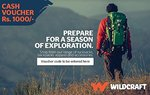 Wildcraft Gift Voucher Rs 1000 @ Rs 850 (15% Off) @Amazon