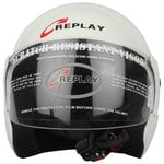 Replay Essex Hit Plain Open Face Helmet with Clear Visor at good discount