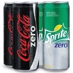 Coca-Cola Zero and Sprite Zero 300ml Can Combo(Pack of 4) -99 rupees