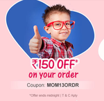 Firstcry : Rs. 150 Off on your order today + 10% Cashback With Mobikwik