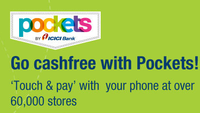 54dfa6f0fd3b5 20% cash back by using ICICI Bank Debit Credit Card by using touch   pay  feature provided in Pockets App.