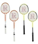 Roxon Phantom Polo Double Shaft Badminton Racket Set of 2 piece-Assorted colors@211+ Rs 49 shipping MRP 1999