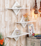 Home Sparkle White Engineered Wood Shelves - Set Of 3 for Rs. 735 @ Pepperfry