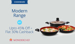 Paytm: Wonderchef Cookware Modern Range - Get Upto 45% Off + Flat 30% Cashback | Offer Ends 31st May