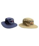 Jack & Ginni Blue & Cream Colour Cricket Round Cap - Pack Of 2@299 [MRP:1499]