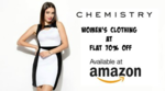Chemistry Women's Clothing Flat 70% Off + Extra 30% Off @Amazon