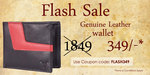 hidekraft|Flash Sale|Genuine Leather Wallet @ 81% Off|Limited Stock