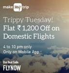 Flat Rs.1200 Cash Back On Domestic Flights Only On App Makemytrip (Citi Bank Offer)