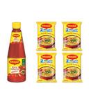 Maggi Rich Tomato Ketchup 1 kg + Free Maggi Masala Noodles (Pack of 4) @133/- Mrp 188/- at Snapdeal