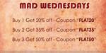Hidekraft Mad Wednesdays: Buy 1 Get 20% Off   Buy 2 Get 35%   Buy 3 Get 50%