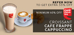 Cafe Coffee Day - Minimum 40% Off on Croissant, Cafe Frappe, Cappuccino