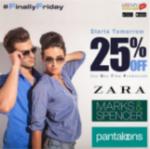 [LIVE] Flat 25% Off on Zara   Pantaloons   Marks & Spencer at usemyvoucher app maximum 750