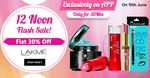 PURPLLE - 30 minute Flash sale on Lakme Products