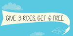 Jugnoo: Double your free rides! Give 3 rides Get 6 free