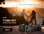 Flat Rs.1000 off DSLR Cameras @Infibeam