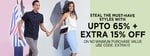 Upto 65% off + Extra 15% off on Apparels & Accessories.|| Use Coupon : EXTRA15