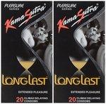 KamaSutra Longlast Condom - 20 Count (Pack of 2)@180 mrp360