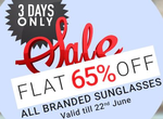 Coolwinks :  Get 65% OFF On Branded Sunglasses