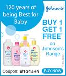 FirstCry: Buy 1 Get 1 Free* on Johnson's Range