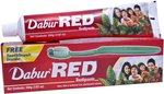 Dabur Red Tooth Paste Value pack 200g+100g (free ToothBrush)@95 Mrp 135 at Amazon