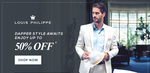Upto 50% off on Louis Philippe Clothing @Trendin