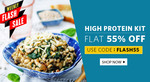 Flat 55% off on High Protein Kit @Healthkart