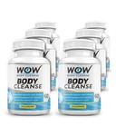 WOW BODY CLEANSE , 60 Veg Capsules , Pack of 6
