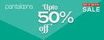 Upto 50% OFF on Pantaloons