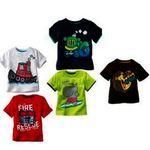 Kids Printed Round Neck Cotton T-shirt(Set Of 5)