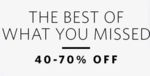 Myntra : 40% to 70% Off on Branded Clothing