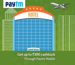 Get 10% cashback up to Rs.300 via paytm wallet on Domestic Flight and Hotel Bookings