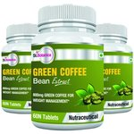 St.Botanica Green Coffee Bean Extract 800mg - 60 Tablets x Pack of 3