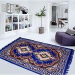 k decor Polyester carpet (55x75 inches) blue