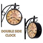 Home Sparkle 8 Inch Dial Victoria Station double side Clock