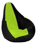Beanbagwala XXL Bean Bag with Beans Black & Fluorescent Green