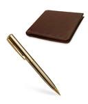 Pierre Cardin Golden Eye Chrome Ball Pen & RL Hide & Seek Gents Wallet Set