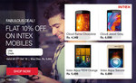 Get Flat 10% off on intex mobiles