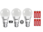 Eveready 9W LED Bulb Pack of 3 with 6 Free Battery