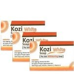 Kozi White Skin Whitening Soap 75gm Pack of 3