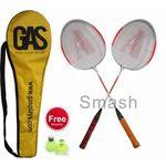 Gas Smash Badminton Set of 2 Racquet,Cover and Shuttlecock