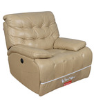 Ebony Single Seater Electric Recliner in Ivory