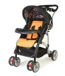 LuvLap Baby Stroller Pram Sports Black/Orange