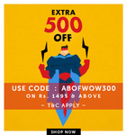 Extra Rs.500 Off on Apparels & Accessories